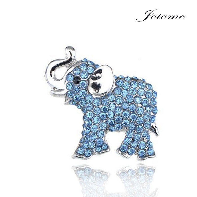 natural elephant magnetic eyeglass holder crystal brooches