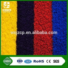 China rainbow beautiful color natural looking football artificial turf grass for sports floor