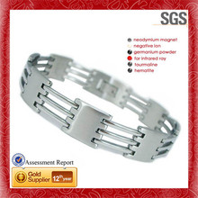 Germanium Ion Energy Balance Sport 2014 braided genuine white stainless steel bracelet