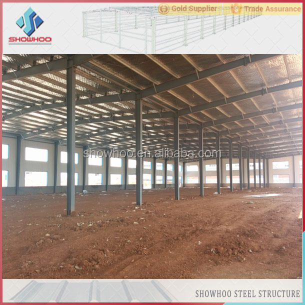 modern designed temporary steel structure frame building prefab factory steel warehouse