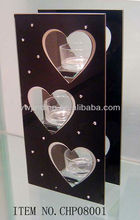 The beautiful glass candleholder with great artistic value is very distinctive and sales good all over the world