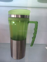 Banlance double wall plastic coffee mug