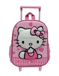 Cartoon kids school trolley bag/wheeled bag type