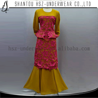 MD A001 Lastest style muslim arabian dress High quality muslim long sleeve long blouse muslimah New style arabic fashion dresses