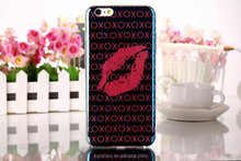 2015 Blue Light Phone Case for iphone 6 plus with 3D red lip design case cover