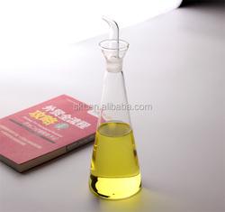 2015 hotsale glass oil cruet and glass oil bottle