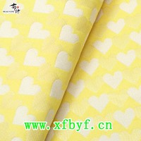 2015 various polyester cotton heart design yarn dyed dress fabric
