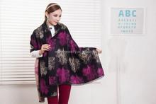 2014 new fashion pashmina shawl scarf scottish 100% cashmere scarf