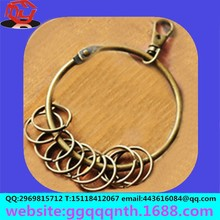Arts and crafts jewelry accessories antique activity Circle metal open split ring key chain/keychain