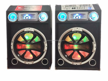 Professional active stage speaker with double EQ flash light horn tweeter NL-15A
