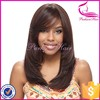 Unprocess 6a grade virgin human hair with bangs 16inch brazilian remy hair short human hair full lace wig for black