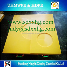 Customized UHMWPE outrigger stabilizer pad with round circle for crane leg
