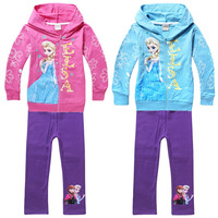 Elsa Sportswear Kids Cotton Cheap Plain Hoodies Elsa Anna Name Brand Clothing Outlets