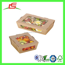 J466 Hot Sale Disposable Paper Snack Food Packaging with clear Window