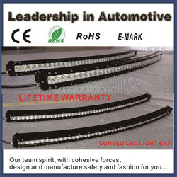 2015 Chinese manufacturer supply directly curved cree led light bar top quality cree offroad led light bar