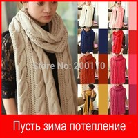Loss! winter male scarf female pullover warm mohair knitted crochet scarf solid winter scarf