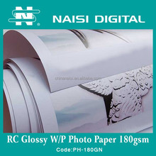 waterproof resin coated inkjet sticker glossy photo paper 180gsm