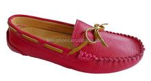 2015 genuine leather flat loafer fashion women dress footwear