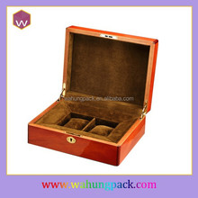 custom high glossy wooden luxury elegant couple lover retail watch box wholesale