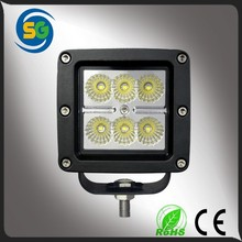 Factory price 18w flood beam led work light wholesale atv parts