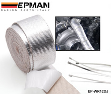 Autofab - Exhaust Header Turbo Manfold Pipe Aluminum Heat Shield Wrap Tape Adhesive Backed EP-WR12DJ