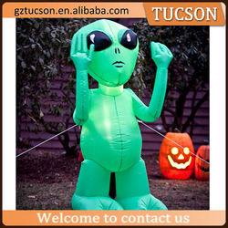 2016 Hot sale giant inflatable LED alien/ inflatable green alien