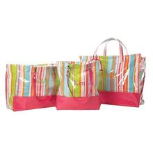 Colourful standard size canvas tote bag