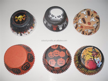Stock Ghost, Skull Witch Pumpkin Halloween paper cupcake liner muffin baking cup mould cake case party favor supply