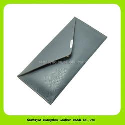 14286 Ultra thin design dark blue genuine leather man wallet
