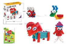 BNR900239 37pcs 4 IN 1 sheep Snails Mouse mini plastic toys Educational building block