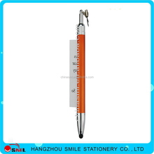 Advertising banner pull out plastic ball pen with touch printing company logo
