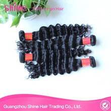 Full fix hair 100% brazilian deep wave hair extension grade 6a virgin brazilian water wave human hair