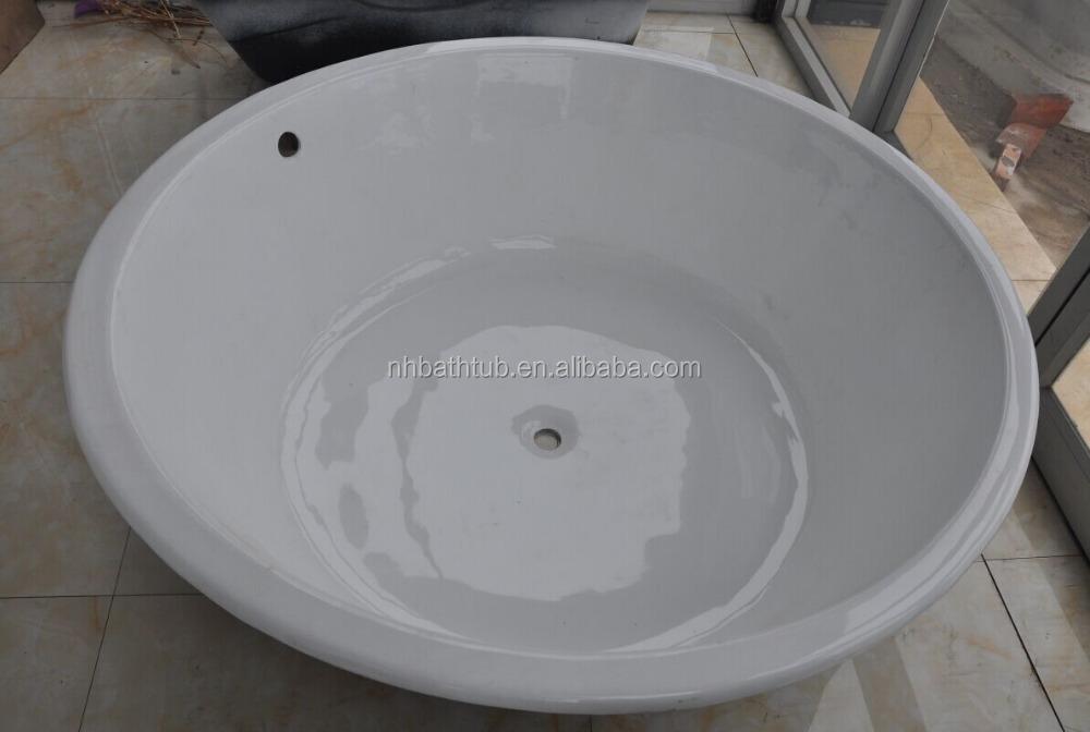 Round Bath Tubs : Round Iron Cast Bathtub Build In Bath Tubs 1500x480mm - Buy Cast Iron ...