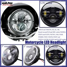 "For Harley 7"" Round LED H4 Headlight Motorcycle LED Headlight"