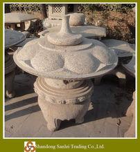 stone Japanese lantern garden carving