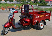 chinese three-weeled moped cargo tricycles