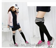Adults Age Group STRIPE wholesale Cable knit over the knee boot socks