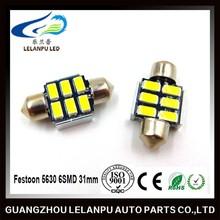 led car lamp 6smd 5630 5730 36mm canbus festoon lighting