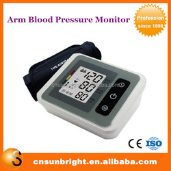 China Home Use Automatic Digital Arm Blood Pressure Monitor & Heart Beat Meter With Lcd Display