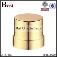 gold universal bottle cap screw aluminum plastic colorful cap for lotion shampoo