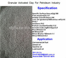granular activated bentonite caly catalysts for re-refining petroleum oil industry