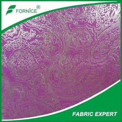 Hot Sale 100% Polyester Colorful Foil Stamping Suede Fabric