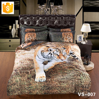 Wholesale bedding set Luxury bedding Serious Hunting Tiger 3D Bedding Set