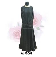 latest new design lady gown abaya muslim abaya big hem long dress AL50061