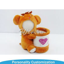 Wholesale Sublimation 3d photo face with plush soft toy fashion new plush stuffed bear 3d face doll