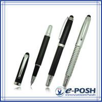 Luxury ink cartridge carbon fiber metal hotel oem advertising fountain pen