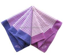 checked bandana for unisex fashionable head scarf plaid handkerchief