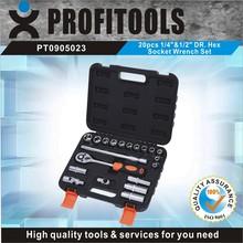 """20pcs 1/4""""&1/2"""" high quality auto repair tool box set"""