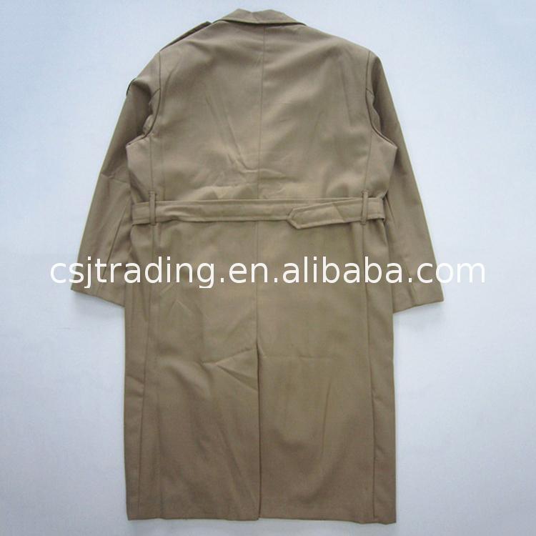 En iyi Fiyat kadın askeri stil yün büyük pelerin kürk palto