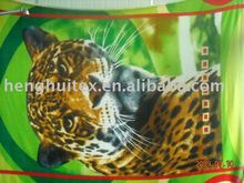 animal of panther/leopard print polar fleece fabric